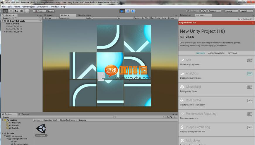 Unity3D Sliding Tile Puzzle Game 源码